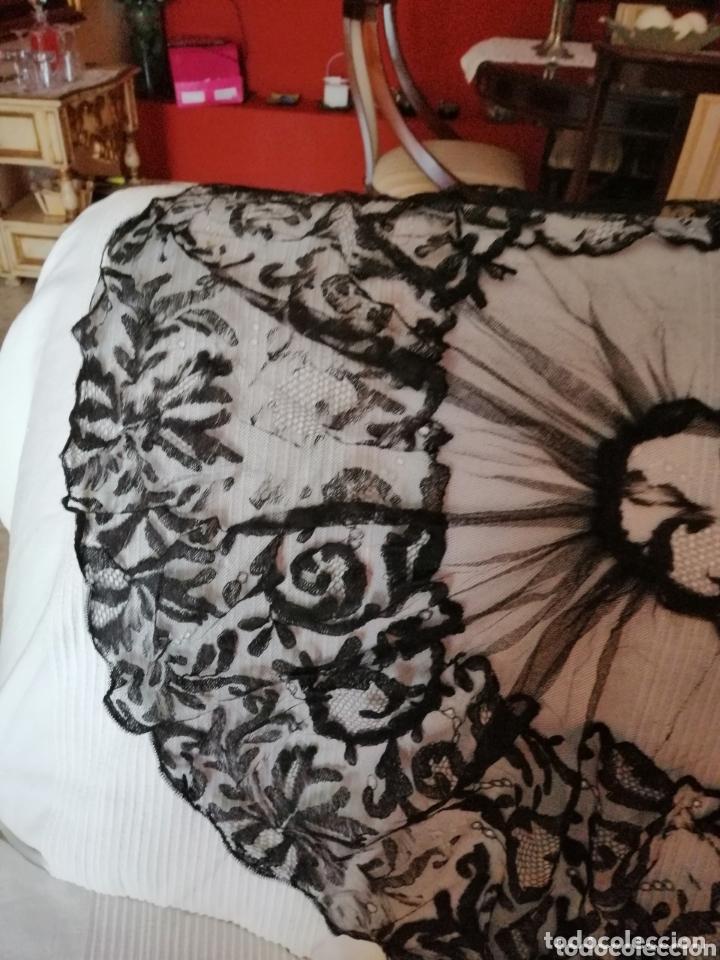 Antigüedades: Antigua mantilla de terno para restaurar o enmarcar - Foto 4 - 172972294