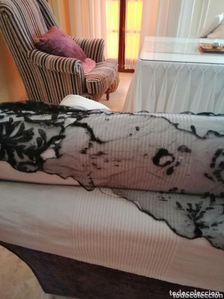 Antigüedades: Antigua mantilla de terno para restaurar o enmarcar - Foto 5 - 172972294