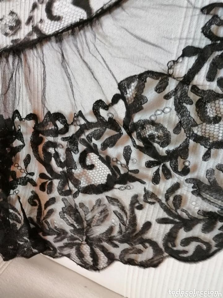 Antigüedades: Antigua mantilla de terno para restaurar o enmarcar - Foto 6 - 172972294