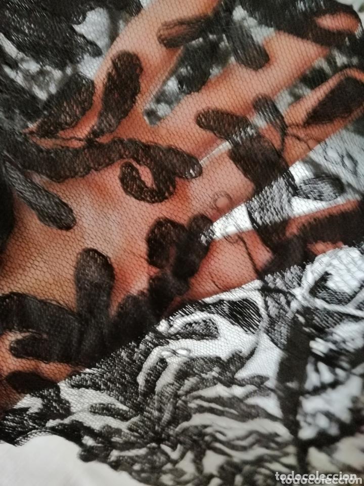 Antigüedades: Antigua mantilla de terno para restaurar o enmarcar - Foto 8 - 172972294