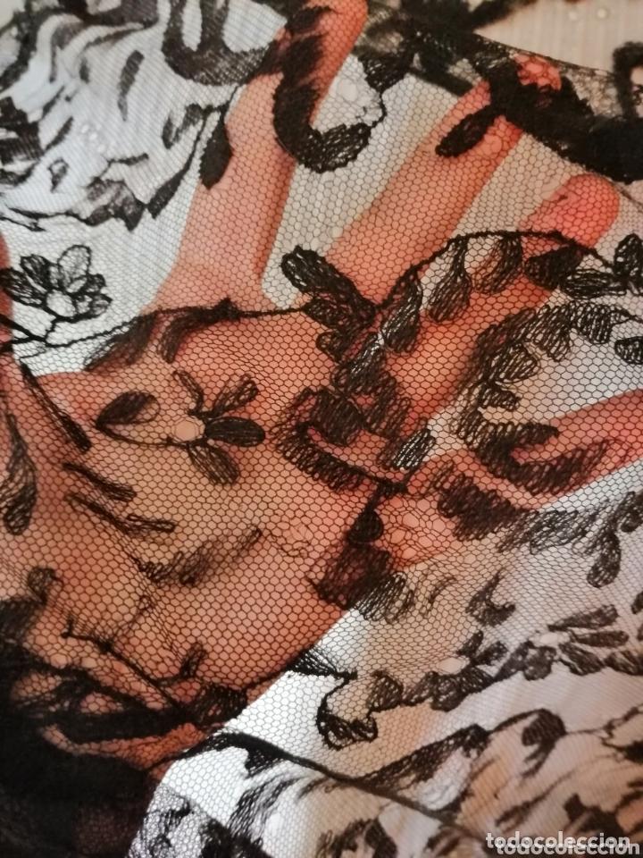 Antigüedades: Antigua mantilla de terno para restaurar o enmarcar - Foto 9 - 172972294