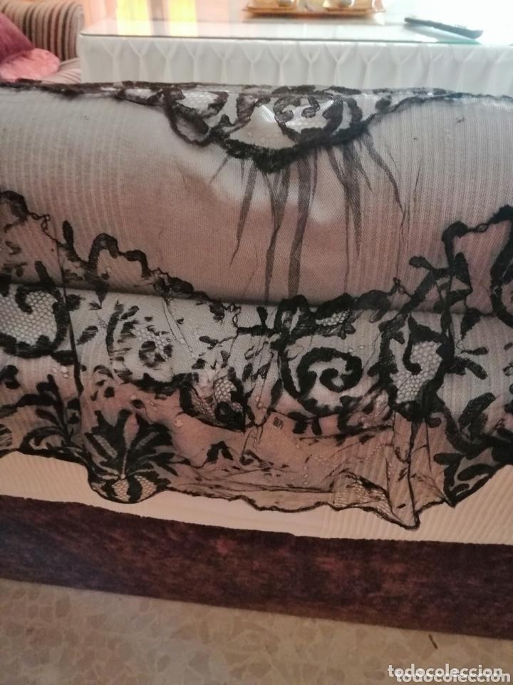 Antigüedades: Antigua mantilla de terno para restaurar o enmarcar - Foto 11 - 172972294