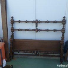 Antigüedades: CAMA TORNEADA DE MATRIMONIO DE 135CM. Lote 172987647