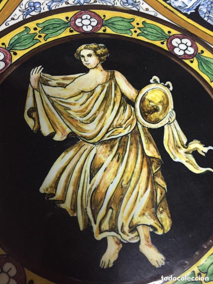 Antigüedades: Plato antiguo grande de porcelana - Foto 5 - 103503051