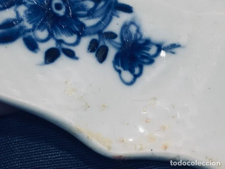 Antigüedades: plato porcelana alemana s xviii ochavado marca impresa 24cms - Foto 4 - 173005892
