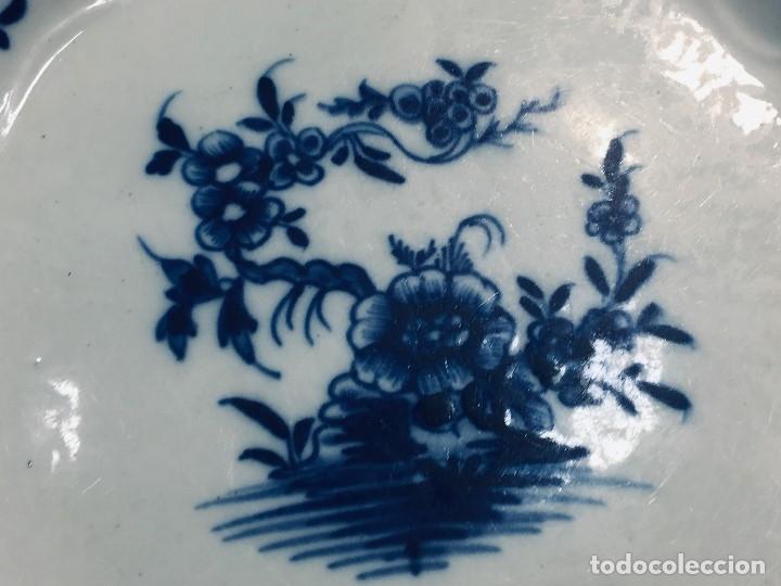 Antigüedades: plato porcelana alemana s xviii ochavado marca impresa 24cms - Foto 6 - 173005892