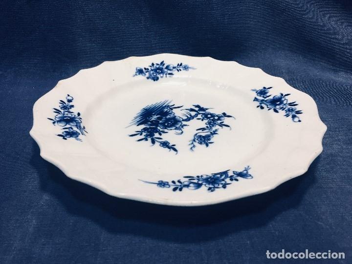 Antigüedades: plato porcelana alemana s xviii ochavado marca impresa 24cms - Foto 7 - 173005892