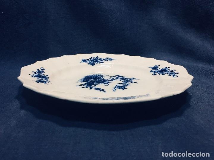 Antigüedades: plato porcelana alemana s xviii ochavado marca impresa 24cms - Foto 8 - 173005892