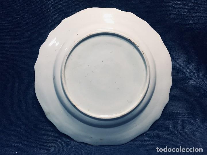 Antigüedades: plato porcelana alemana s xviii ochavado marca impresa 24cms - Foto 12 - 173005892
