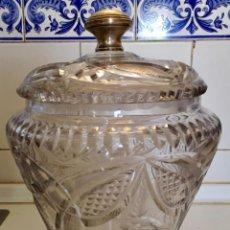 Antigüedades: PONCHERA DE CRISTAL. Lote 168960432