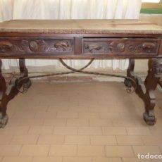 Antigüedades: MESA DE DESPACHO CON DOS CAJONES.. Lote 173032852