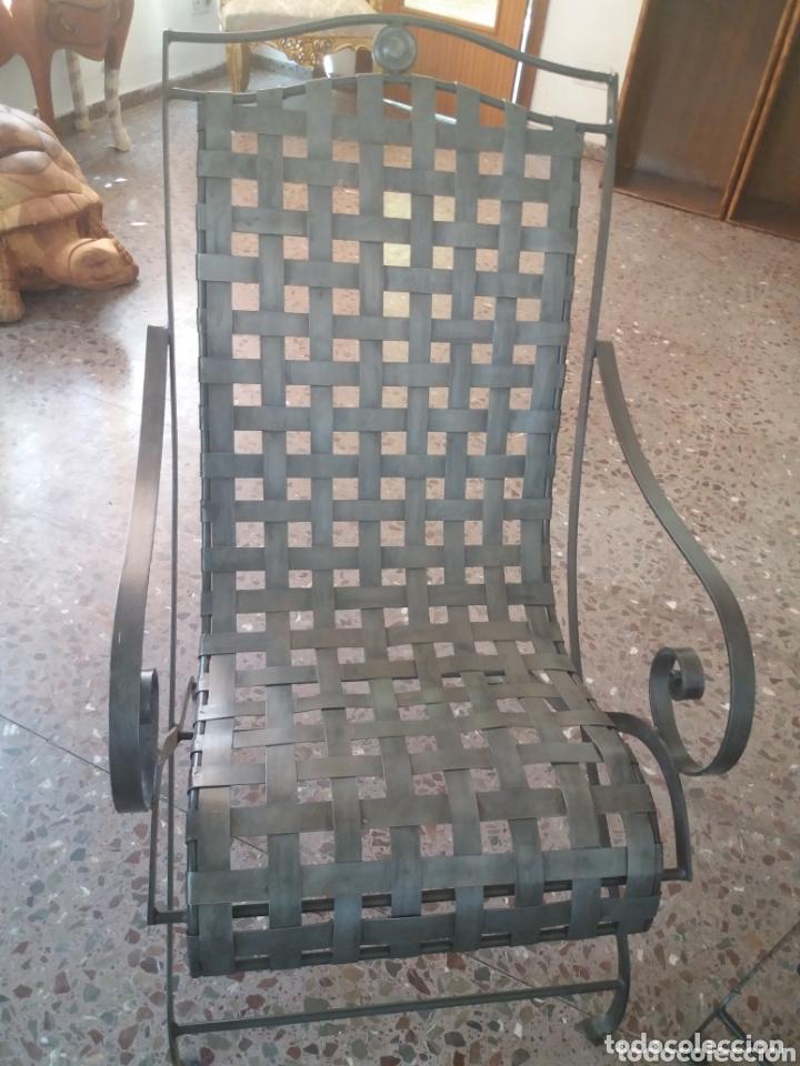 Antigüedades: Pareja de sillones de forja - Foto 2 - 173033467