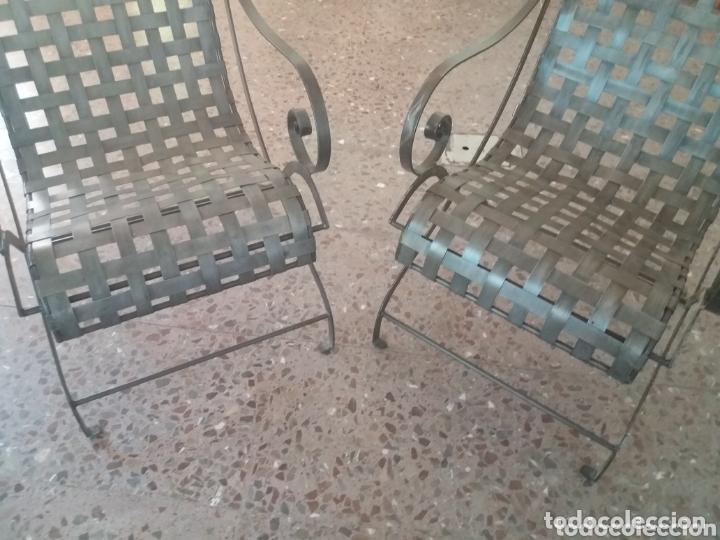 Antigüedades: Pareja de sillones de forja - Foto 4 - 173033467