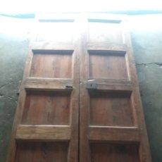 Antigüedades: ANTIGUA PUERTA DE 2 HOJAS.DE PINO DEL SIGLO XVIII. Lote 173043653