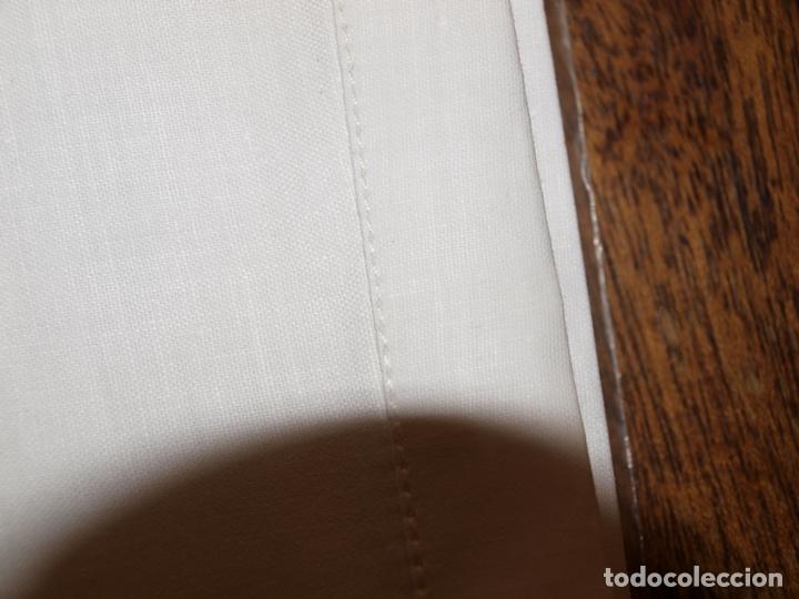 Antigüedades: ANTIGUA SABANA BAJERA. 100% ALGODON. 240 X 156 CM APROX. PARA CAMA DE 80 O 90 CM. VER FOTOS Y DESCRI - Foto 10 - 173047357