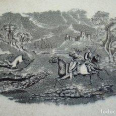 Antigüedades: FUENTE OCHAVADA LLANA. LOZA DE CARTAGENA. FÁBRICA DE LA AMISTAD. CARTAGENA, MURCIA. SIGLO XIX.. Lote 173051403