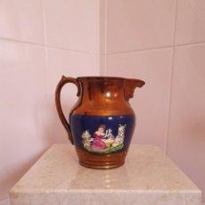 Antigüedades: PRECIOSA JARRA DE REFLEJOS O BRISTOL. Lote 159864460