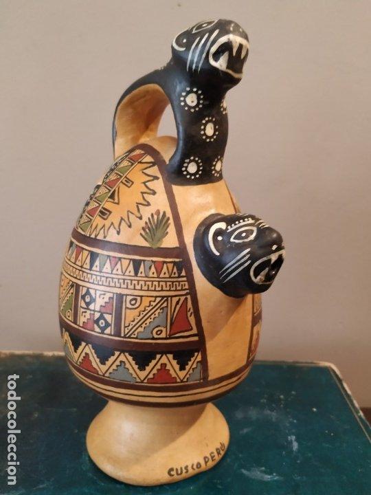 PEQEÑO BOTIJO DE CUZCO PERU (Antigüedades - Porcelanas y Cerámicas - Otras)