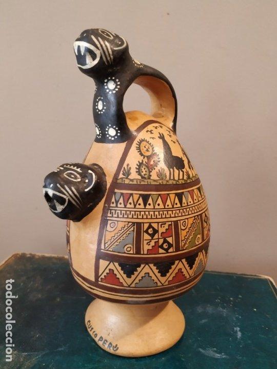 Antigüedades: PEQEÑO BOTIJO DE CUZCO PERU - Foto 2 - 173063375