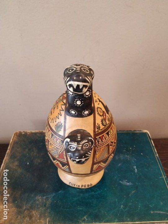 Antigüedades: PEQEÑO BOTIJO DE CUZCO PERU - Foto 3 - 173063375