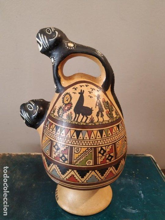 Antigüedades: PEQEÑO BOTIJO DE CUZCO PERU - Foto 4 - 173063375