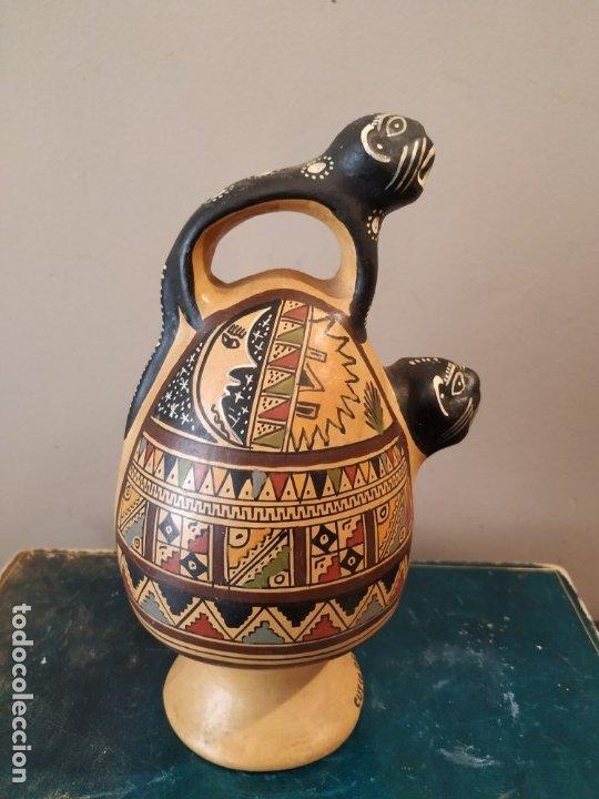 Antigüedades: PEQEÑO BOTIJO DE CUZCO PERU - Foto 5 - 173063375