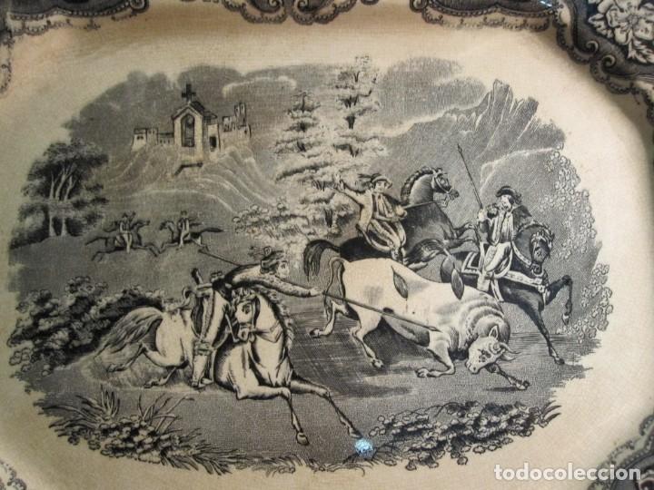Antigüedades: ANTIGUA BANDEJA HONDA DEL XIX - CARTAGENA - MARCAS INCISA Y GRABADA - Foto 2 - 173072407