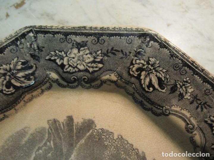 Antigüedades: ANTIGUA BANDEJA HONDA DEL XIX - CARTAGENA - MARCAS INCISA Y GRABADA - Foto 4 - 173072407