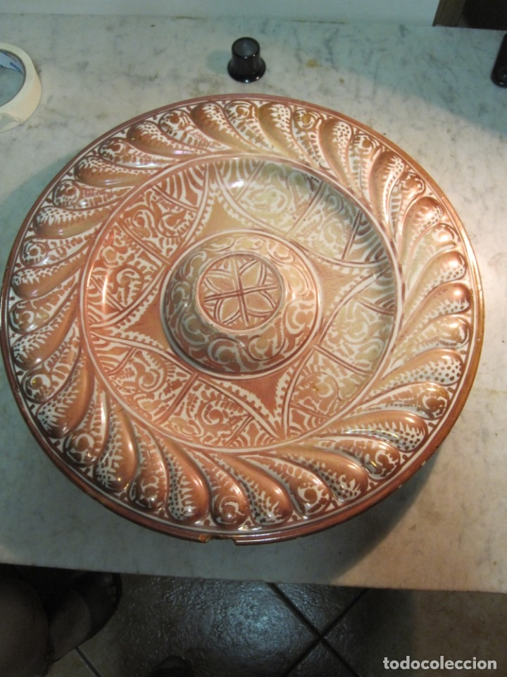 ANTIGUO PLATA DE REFLEJOS DE ORIGEN LEVANTINO DEL XIX (Antigüedades - Porcelanas y Cerámicas - Manises)