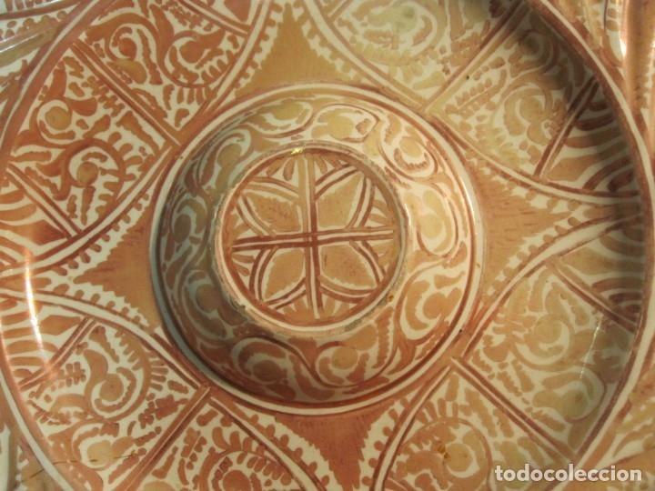 Antigüedades: ANTIGUO PLATA DE REFLEJOS DE ORIGEN LEVANTINO DEL XIX - Foto 2 - 173073340