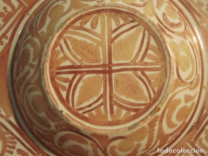 Antigüedades: ANTIGUO PLATA DE REFLEJOS DE ORIGEN LEVANTINO DEL XIX - Foto 3 - 173073340
