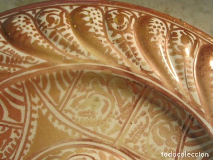 Antigüedades: ANTIGUO PLATA DE REFLEJOS DE ORIGEN LEVANTINO DEL XIX - Foto 4 - 173073340