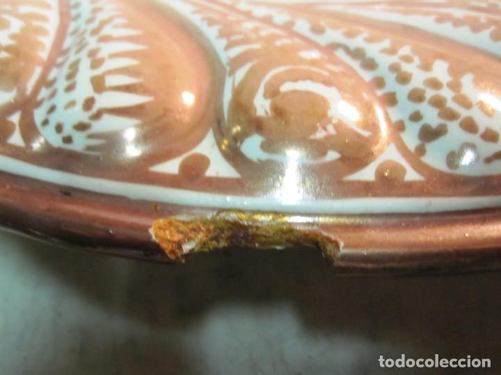Antigüedades: ANTIGUO PLATA DE REFLEJOS DE ORIGEN LEVANTINO DEL XIX - Foto 6 - 173073340