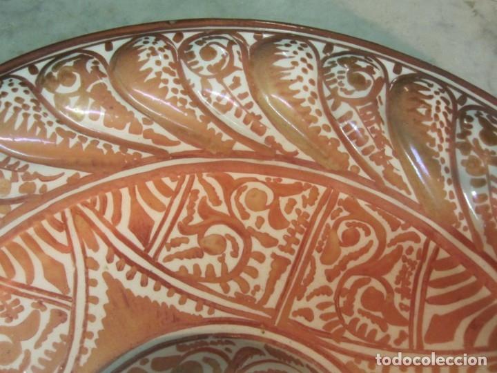 Antigüedades: ANTIGUO PLATA DE REFLEJOS DE ORIGEN LEVANTINO DEL XIX - Foto 8 - 173073340