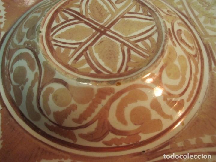 Antigüedades: ANTIGUO PLATA DE REFLEJOS DE ORIGEN LEVANTINO DEL XIX - Foto 10 - 173073340