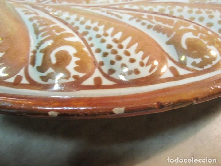 Antigüedades: ANTIGUO PLATA DE REFLEJOS DE ORIGEN LEVANTINO DEL XIX - Foto 11 - 173073340