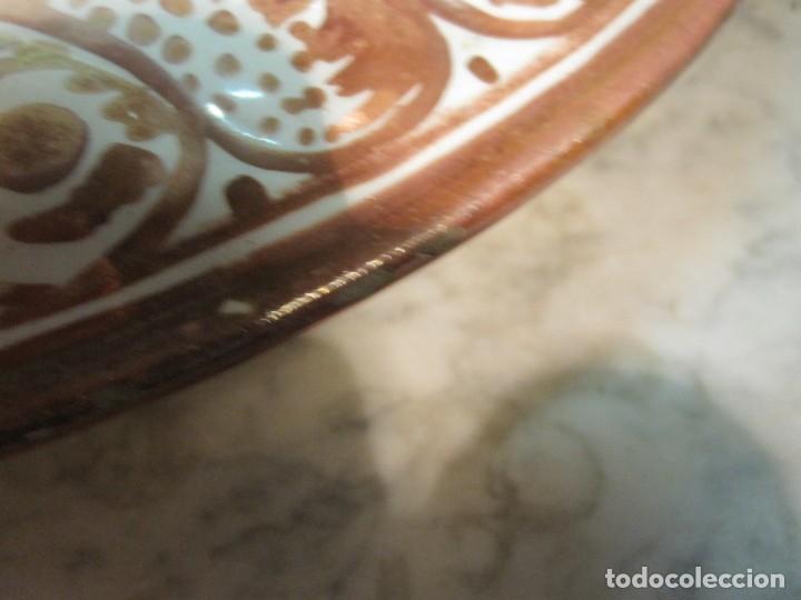 Antigüedades: ANTIGUO PLATA DE REFLEJOS DE ORIGEN LEVANTINO DEL XIX - Foto 12 - 173073340