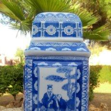 Antigüedades: TIBOR. CELADON CHINO DE PORCELANA. BICOLOR, PINTADO A MANO.. Lote 173084047