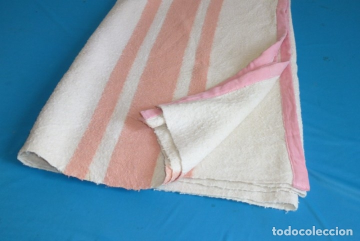 Antigüedades: Antigua manta de lana.200 x 135 cm. - Foto 3 - 173101804