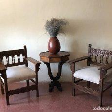 Antigüedades: PAREJA DE SILLONES FRAILEROS CASTELLANOS. Lote 173101988