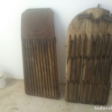 Antigüedades: ANTIGUAS TABLAS TRILLOS DE MADERA PARA TRILLAR EL CEREAL CON UN MULO BURRO VACA CABALLO AGRICULTURA. Lote 173106452