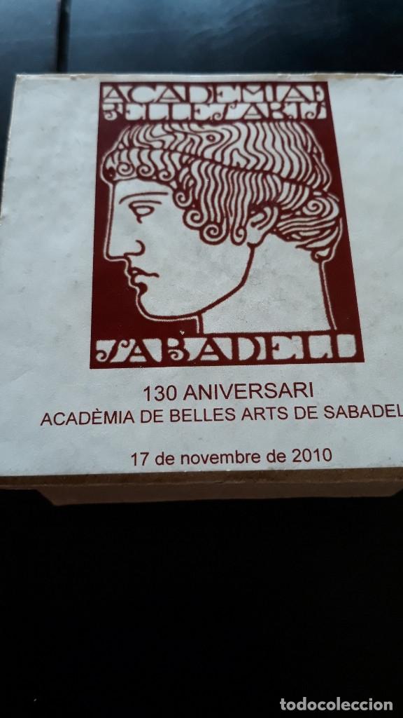 Antigüedades: MEDALLA DE ACADEMIA BELLES ARTS SABADELL( 130 Aniversario ) - Foto 6 - 171158449