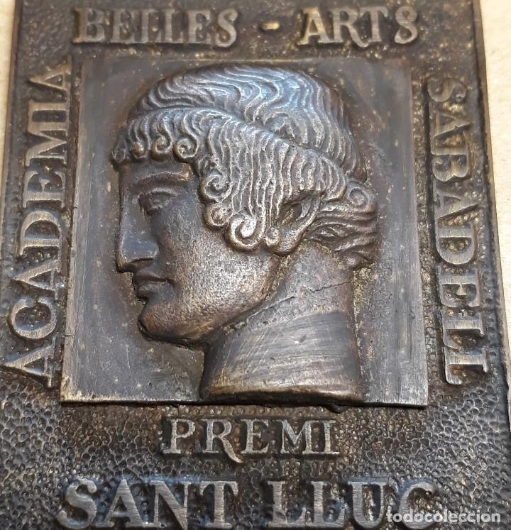 MEDALLA DE ACADEMIA BELLES ARTS SABADELL( 130 ANIVERSARIO ) (Antigüedades - Religiosas - Medallas Antiguas)