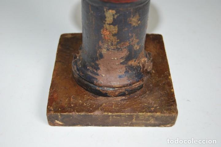 Antigüedades: REMATE DE MADERA - ESCALERA O BARANDILLA - ESQUINERO - SIGLO XVIII - Foto 8 - 173120542