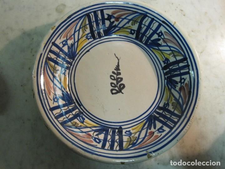 ANTIGUO PLATO HONDO DE MEDIADOS DEL XX DE CERÁMICA LEVANTINA (Antigüedades - Porcelanas y Cerámicas - Manises)