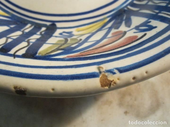 Antigüedades: ANTIGUO PLATO HONDO DE MEDIADOS DEL XX DE CERÁMICA LEVANTINA - Foto 4 - 173129918
