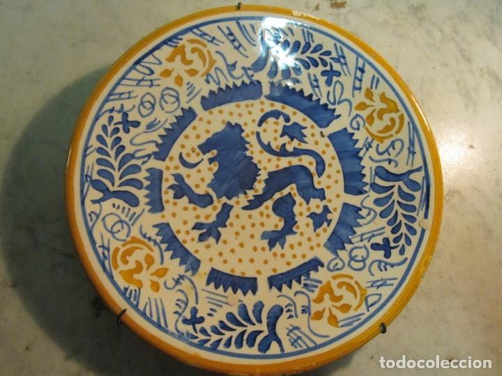 ANTIGUO PLATO DE MEDIADOS DEL XX DE CERÁMICA LEVANTINA (Antigüedades - Porcelanas y Cerámicas - Manises)