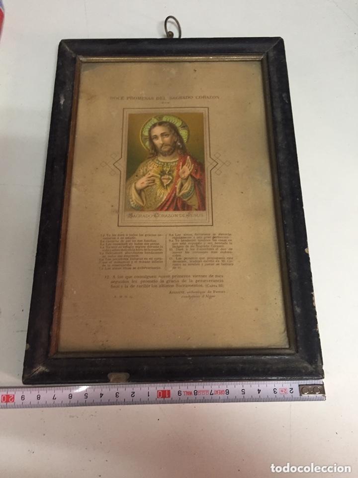 Antigüedades: Cuadro corazón de Jesús - Foto 2 - 173145620
