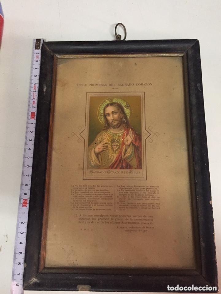 CUADRO CORAZÓN DE JESÚS (Antigüedades - Religiosas - Varios)