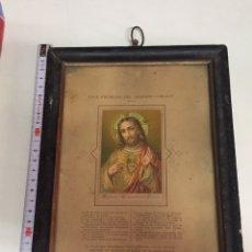 Antigüedades: CUADRO CORAZÓN DE JESÚS. Lote 173145620